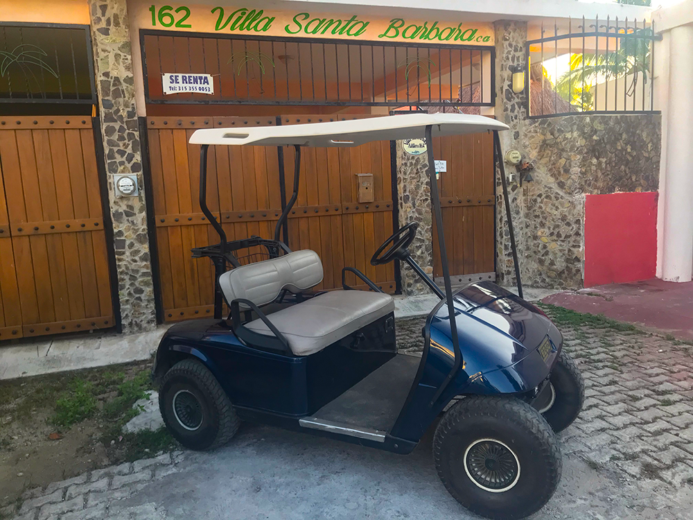 Our Golf Cart (for rent)
